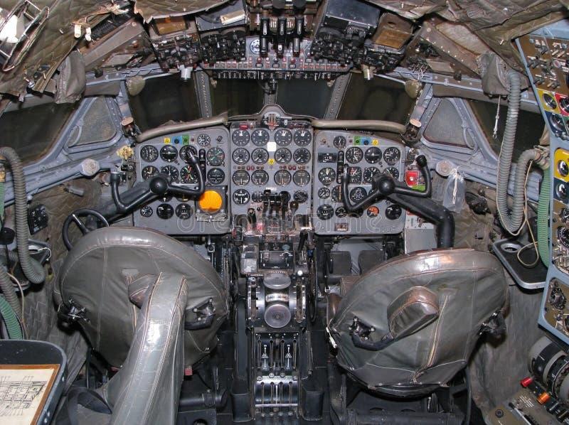 Carlinga de aviones vieja imagen de archivo libre de regalías