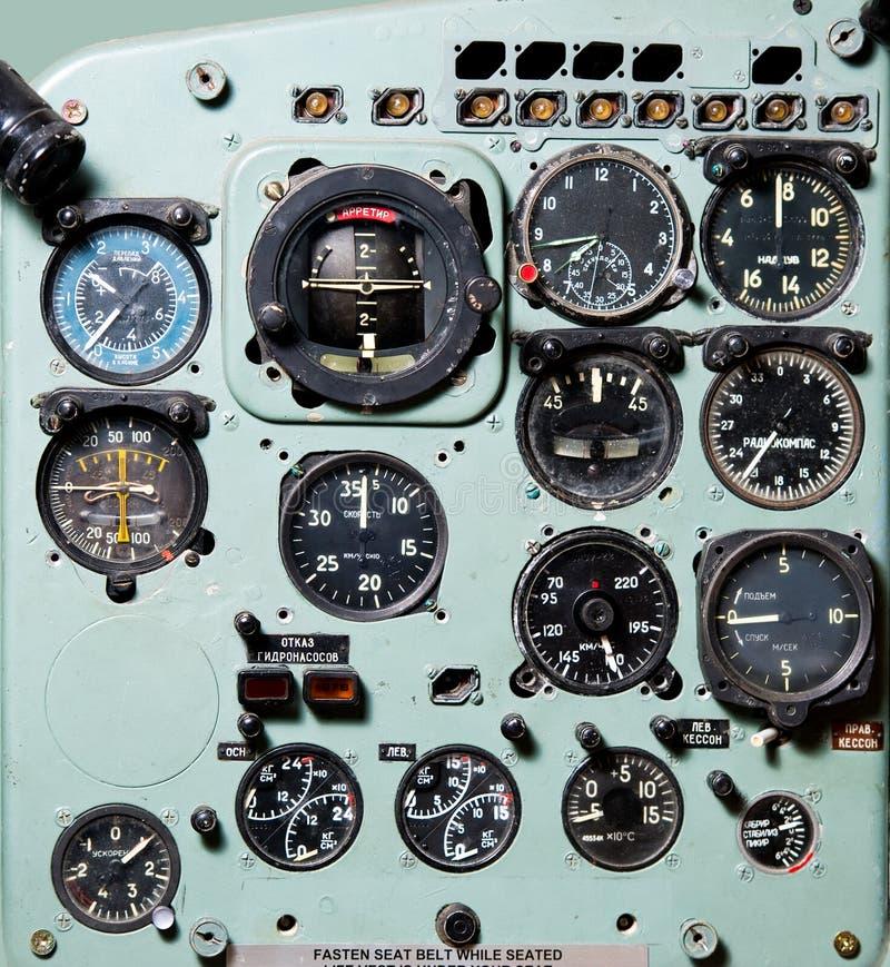 Carlinga del aeroplano fotografía de archivo libre de regalías