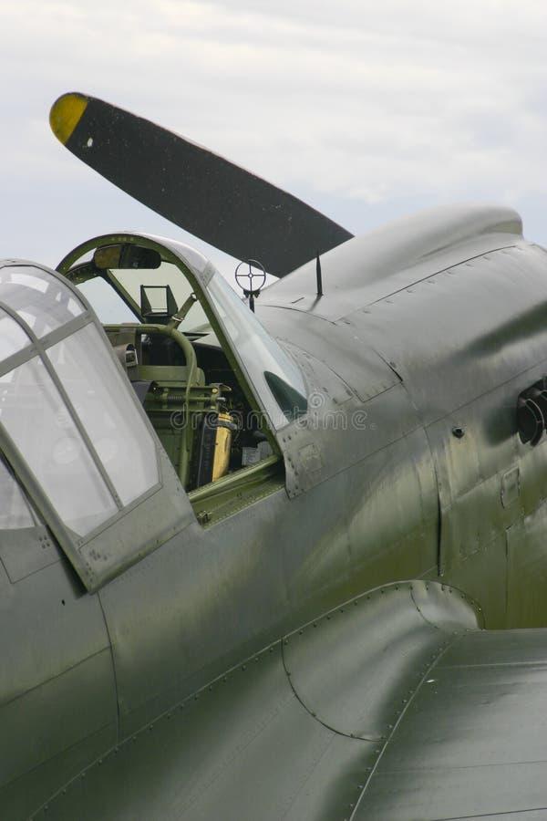 Carlinga del avión de combate imagenes de archivo