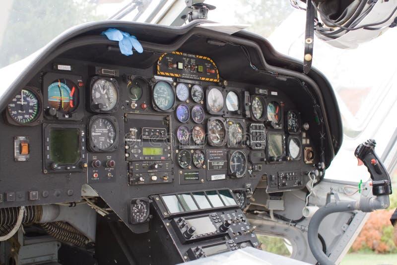 Carlinga del helicóptero foto de archivo libre de regalías