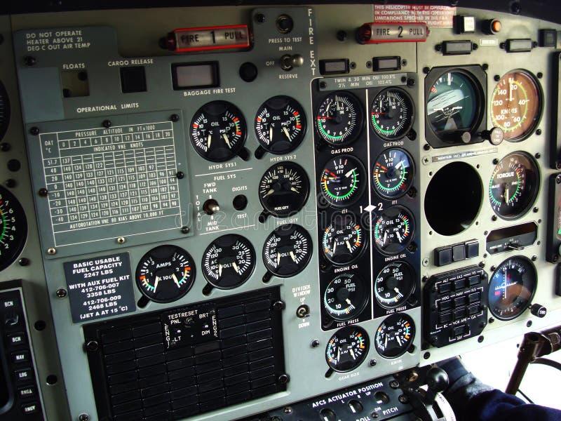 Carlinga del helicóptero imagenes de archivo