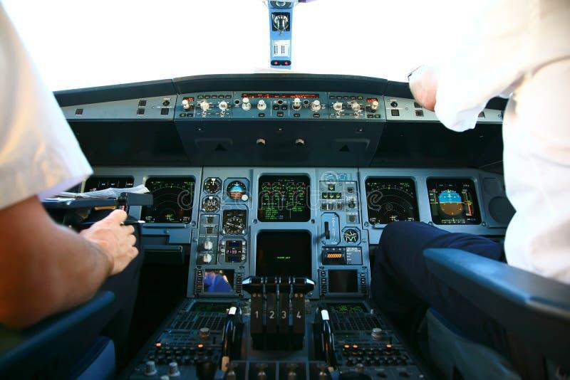 Carlinga del jet fotos de archivo