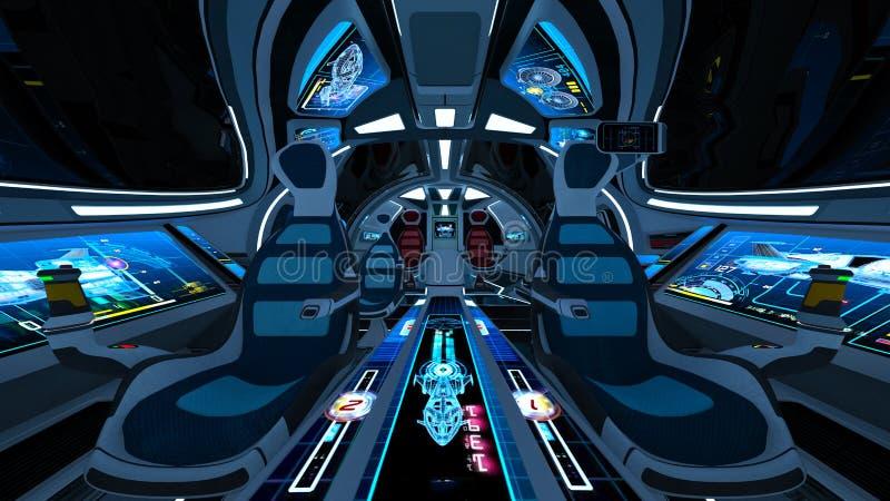 Carlinga del vehículo espacial libre illustration