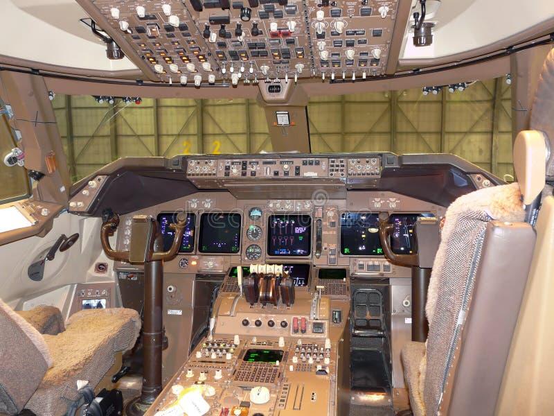 Carlingue d'aéronefs photo stock