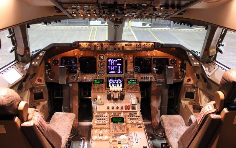Carlingue d'avion à réaction photo stock