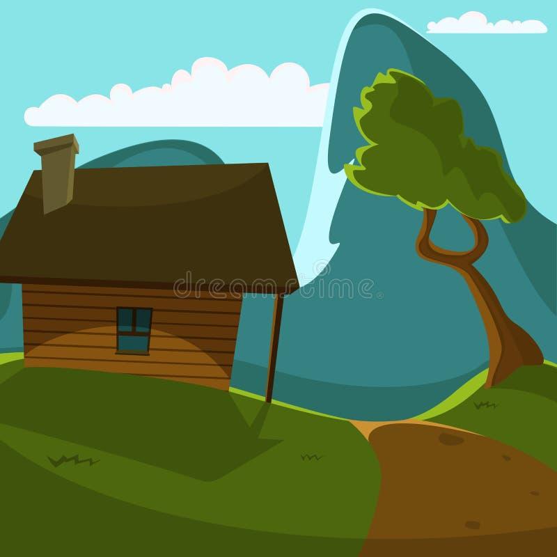 Carlingue de montagne illustration stock