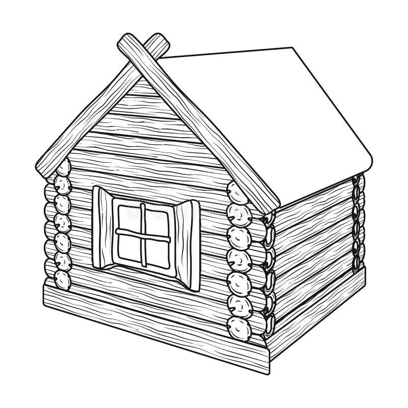 Carlingue de rondin en bois illustration stock