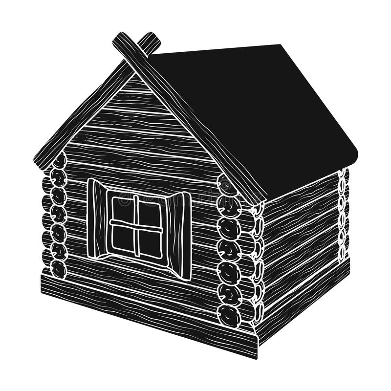 Carlingue de rondin en bois illustration libre de droits