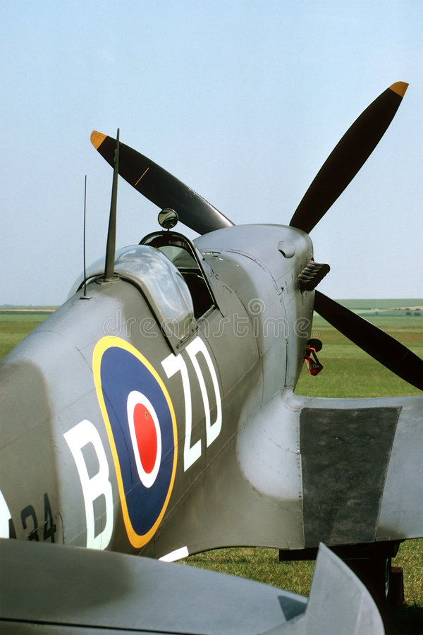 Carlingue de Spitfire image libre de droits