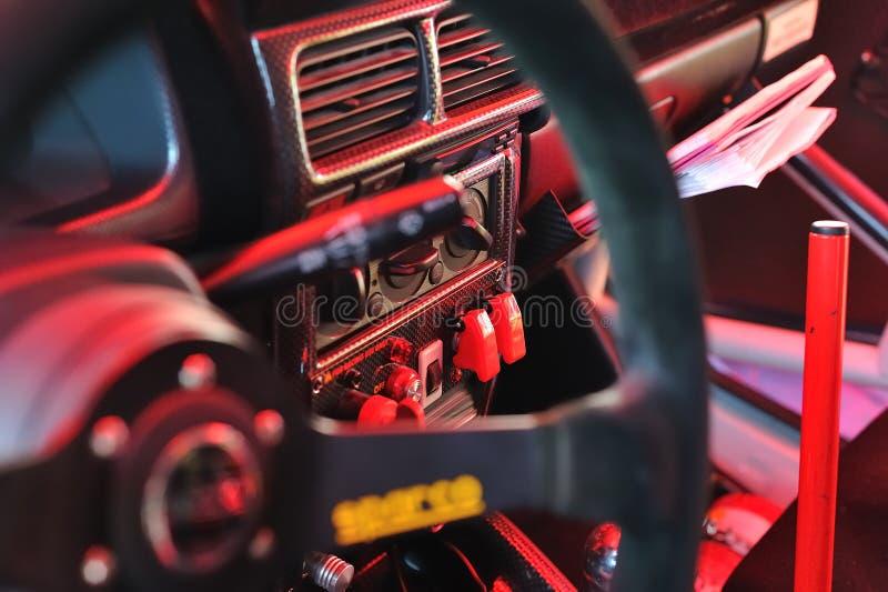 Carlingue de véhicule de Rallye images stock