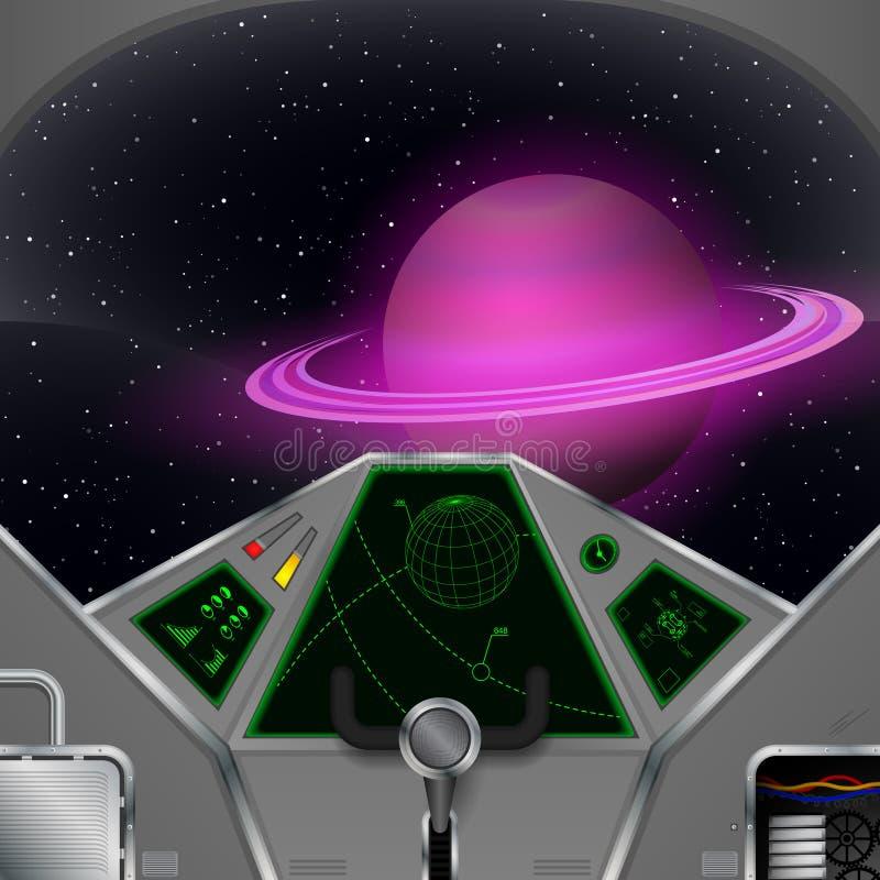 Carlingue de vaisseau spatial illustration libre de droits