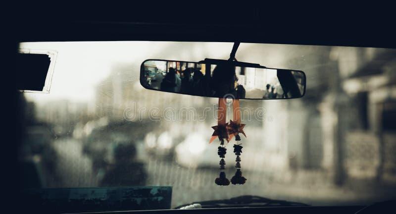 Carlingue du chauffeur d'autobus scolaire images libres de droits