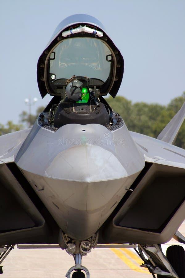 Carlingue du rapace F-22 images libres de droits