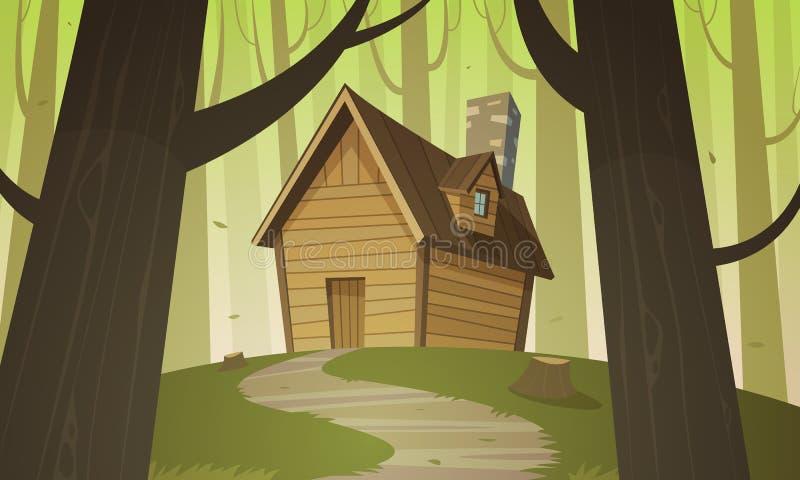 Carlingue en bois illustration libre de droits