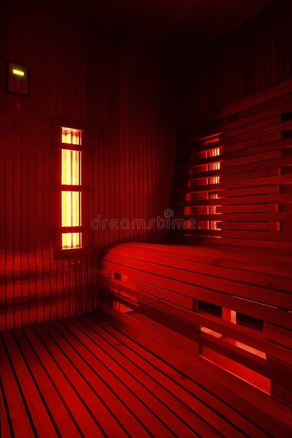 Carlingue infrarouge de sauna images libres de droits