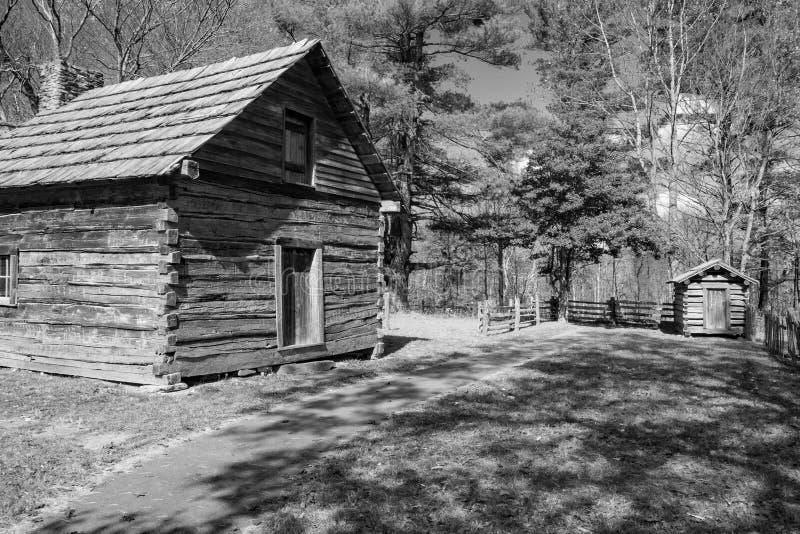 Carlingue Ridge Parkway bleu, la Virginie, Etats-Unis de Puckett's photographie stock libre de droits