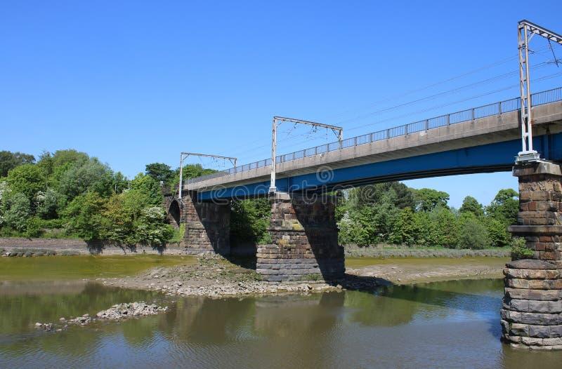Carlisle Bridge River Lune, Lancaster, Lancashire stockfoto