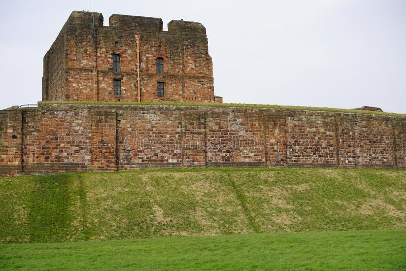 CARLISLE CASTLE KEEP. Carlisle Castle is situated in Carlisle, in the English county of Cumbria, near the ruins of Hadrian`s Wall. The castle is over 900 years stock photo