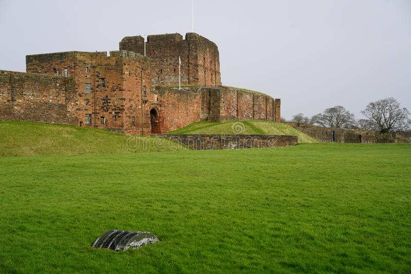 CARLISLE CASTLE KEEP. Carlisle Castle is situated in Carlisle, in the English county of Cumbria, near the ruins of Hadrian`s Wall. The castle is over 900 years royalty free stock photography