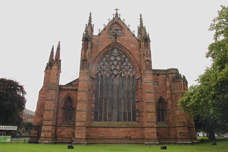 Carlisle Cathedral, Gothic window, England royalty free stock photos