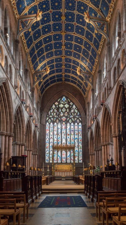 Carlisle Cathedral Nave A lizenzfreies stockbild