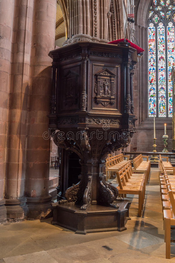 Carlisle Cathedral Pulpit lizenzfreies stockbild