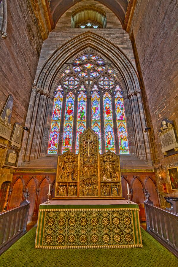 Carlisle Cathedral St Wilfrids Chapel stock images