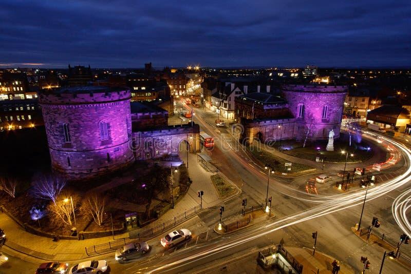 Carlisle Courts au crépuscule photos stock