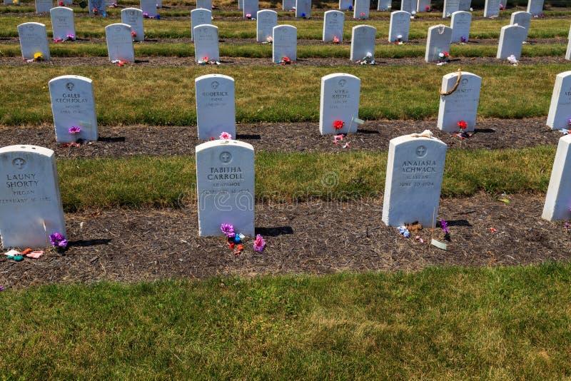 Carlisle Indian Industrial School Grave-Reihen stockfotos