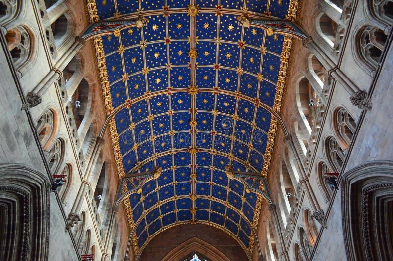 Carlisle kąta Katedralny drewniany Podsufitowy szeroki widok obraz royalty free