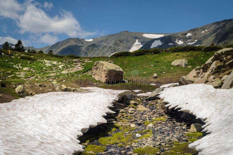 Carlit-Berg und Seen, Les Bouillouses, Frankreich lizenzfreies stockfoto