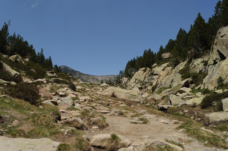 Carlit-Berg und Seen, Les Bouillouses, Frankreich stockbild
