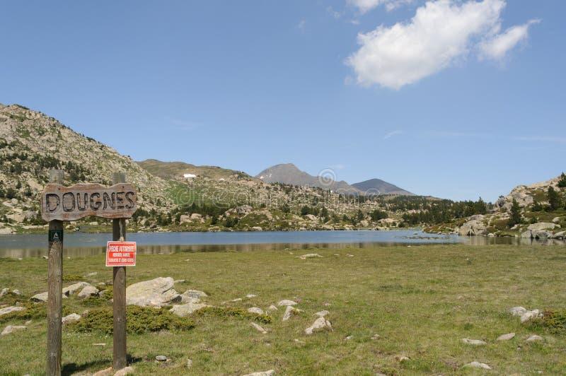 Carlit-Berg und Seen, Les Bouillouses, Frankreich lizenzfreie stockfotos