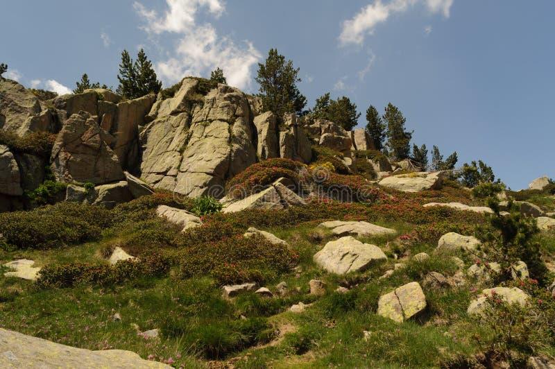 Carlit-Berg und Seen, Les Bouillouses, Frankreich lizenzfreie stockbilder