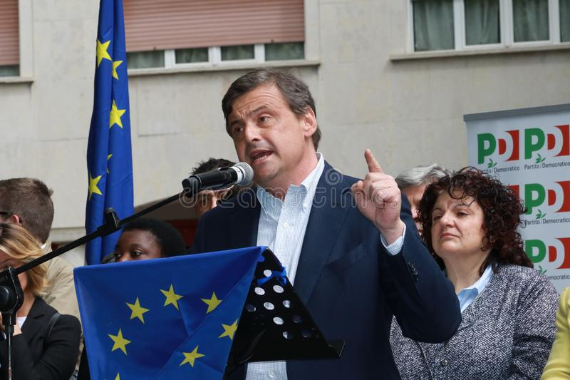 Carlo Calenda, ekonomista partia demokratyczna zdjęcie royalty free