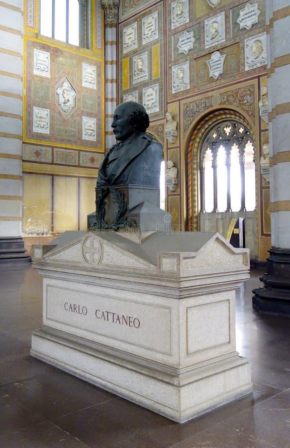 Carlo Cattaneo Grave immagini stock