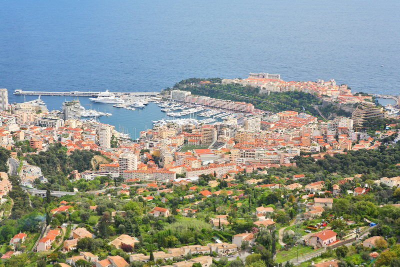 carlo Monaco monte widok zdjęcia stock