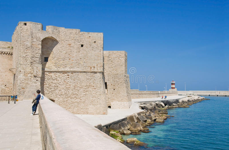 Carlo V Castle. Monopoli. Apulia. royalty free stock image