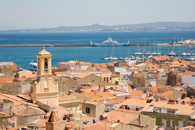 carloforte意大利撒丁岛 库存照片