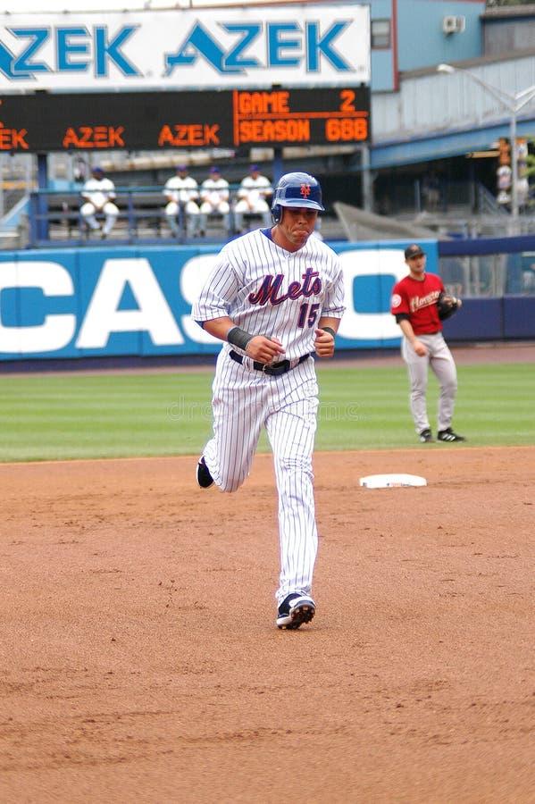 Carlos Beltran New York Mets. New York Mets outfielder Carlos Beltran circles the bases royalty free stock images
