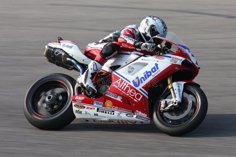 Carlos Checa Ducati Althea Superbike SBK stock fotografie