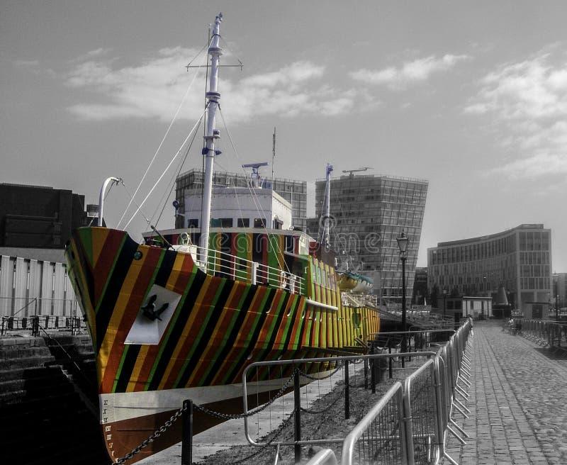 Carlos Cruz-Diez Dazzle Ship foto de stock royalty free