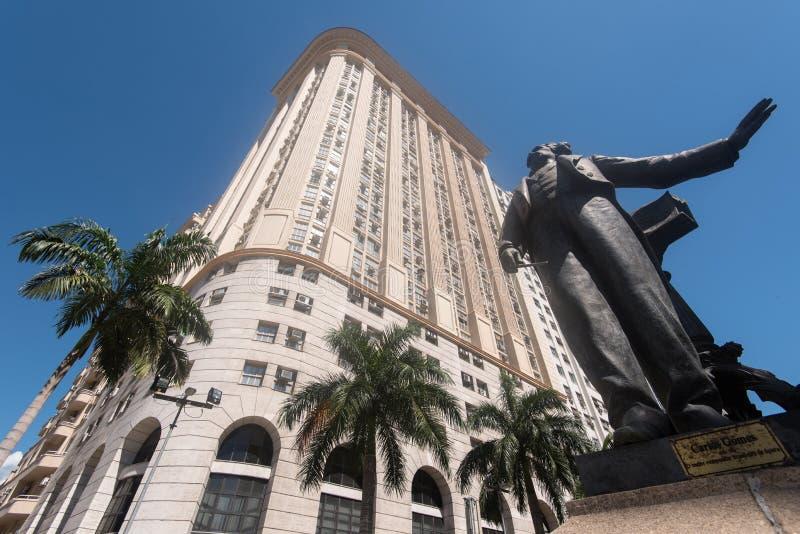 Carlos Gomes Monument foto de stock