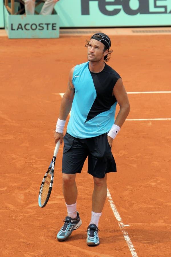 Carlos Moya at Roland Garros royalty free stock image