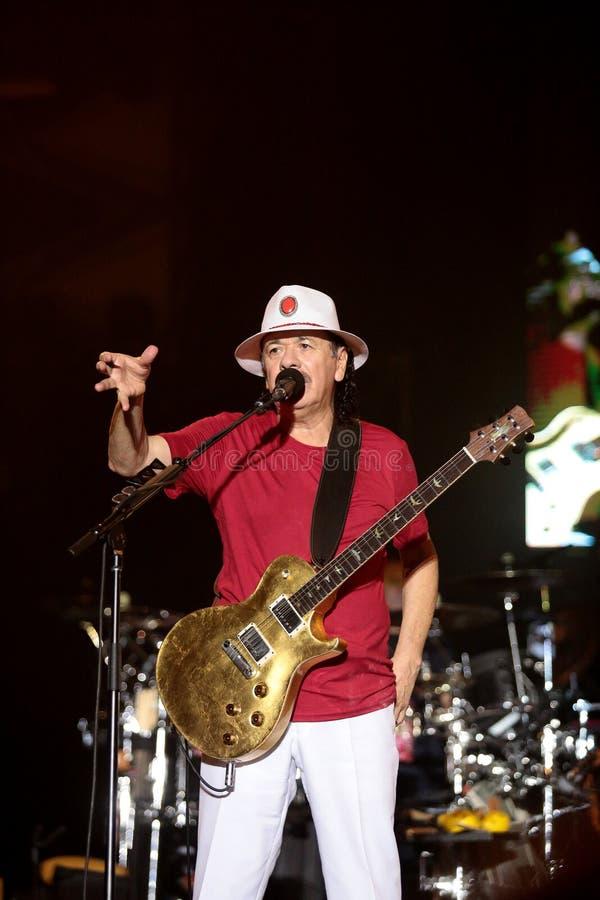 Carlos Santana en el viaje - viaje 2016 de la luminosidad fotografía de archivo