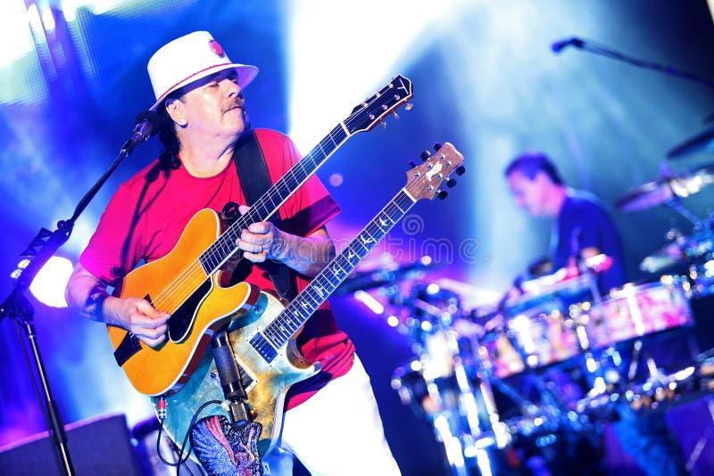 Carlos Santana en el viaje - viaje 2016 de la luminosidad fotos de archivo libres de regalías
