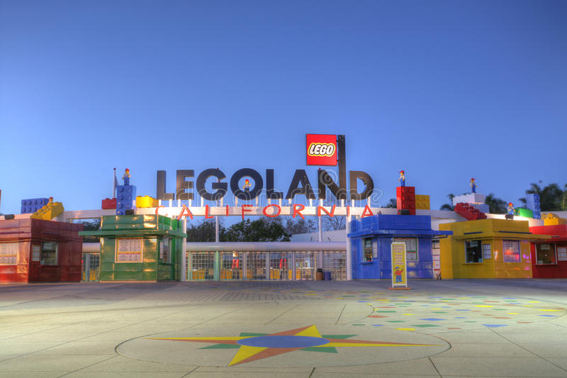CARLSBAD, CA - FEB 5: Legoland California in sunset, February 5, 2014, is a theme park located in Carlsbad, California, based on royalty free stock photo