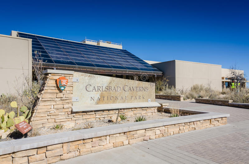 Carlsbad Caverns National Park Visitor Center. Carlsbad Caverns National Park is in the Chihuahuan Desert of southern New Mexico. It features more than 100 caves stock photo