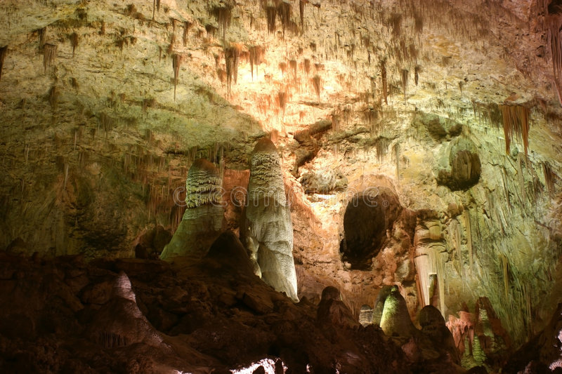 Carlsbad Caverns Rock Formations royalty free stock images