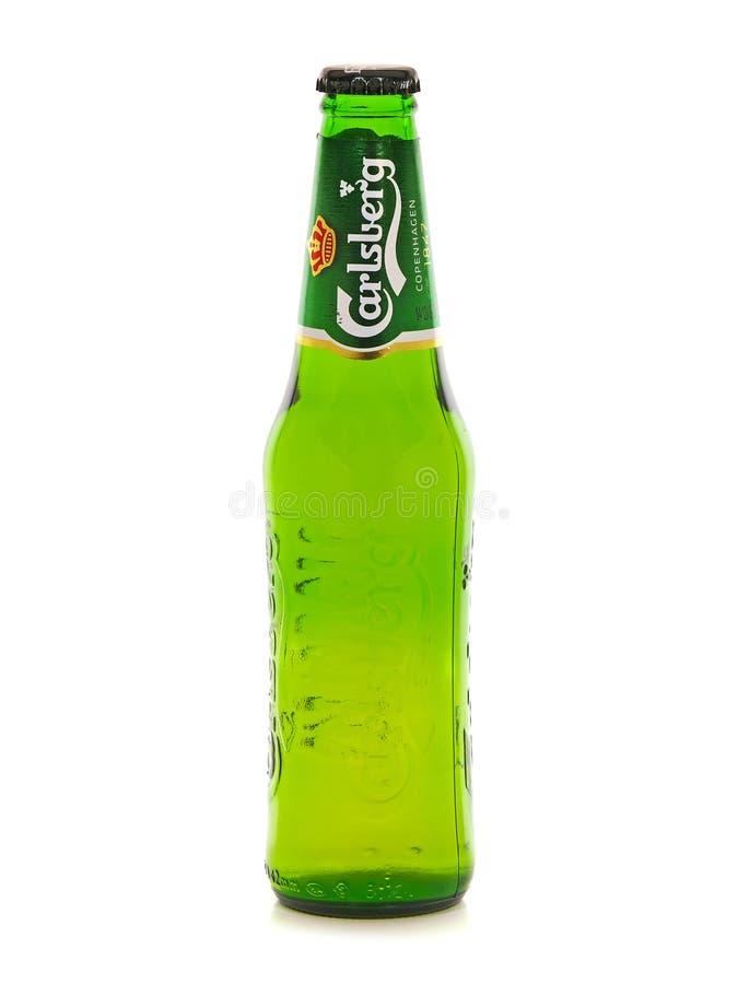 Free Carlsberg Beer, Glass Bottle Royalty Free Stock Image - 122794846
